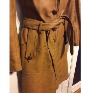 Maquette Jackets & Coats - Maquette Vintage 1970's Leather Trench
